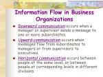 information flow in business organizations70