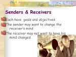 senders receivers