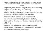 professional development consortium in mfl