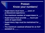pretest know your numbers