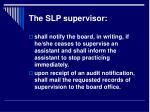 the slp supervisor10