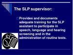 the slp supervisor11
