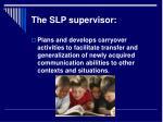 the slp supervisor16
