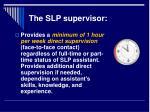 the slp supervisor7