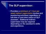 the slp supervisor8