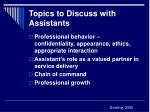 topics to discuss with assistants22