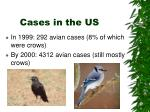 cases in the us