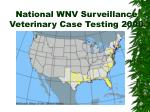 national wnv surveillance veterinary case testing 2000