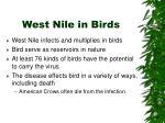 west nile in birds
