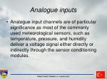 analogue inputs26