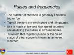 pulses and frequencies