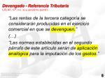 devengado referencia tributaria lir art 57 inc a y pen ltimo p rrafo