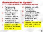 reconocimiento de ingresos nic 18 p 14 venta de bienes y p 20 prestacion de servicios
