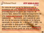 rtf 9295 5 2001 21 11 2001