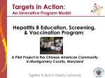 hepatitis b education screening vaccination program