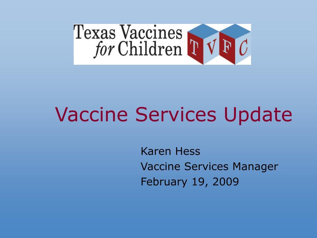 vaccine services update l.