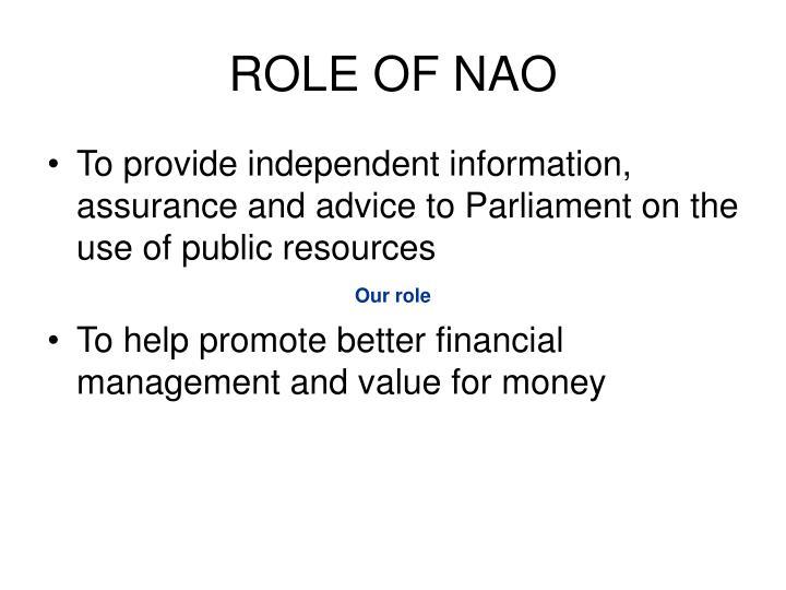 Role of nao