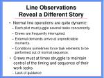 line observations reveal a different story17