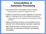 vulnerabilities of automatic processing26