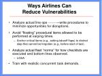 ways airlines can reduce vulnerabilities29
