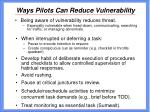 ways pilots can reduce vulnerability31