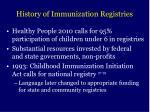 history of immunization registries
