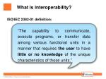what is interoperability