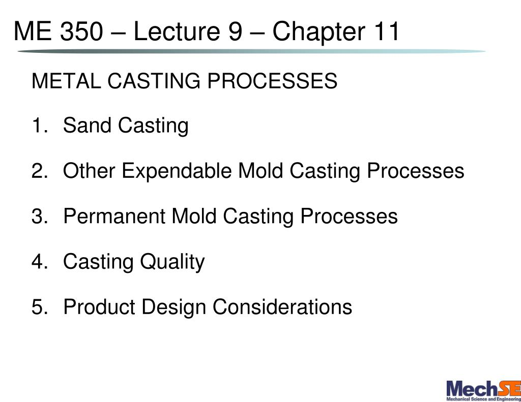 me 350 lecture 9 chapter 11 l.