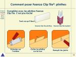 comment poser faenza clip tile plinthes