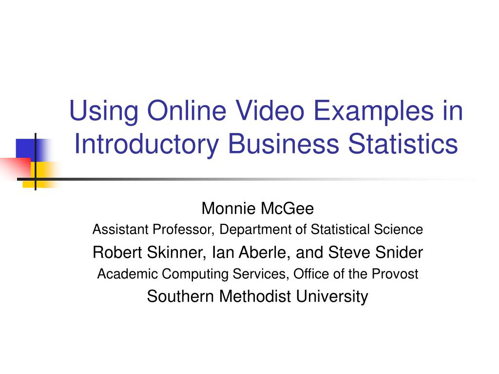 using online video examples in introductory business statistics l.