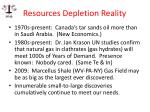 resources depletion reality