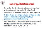 synergy relationships
