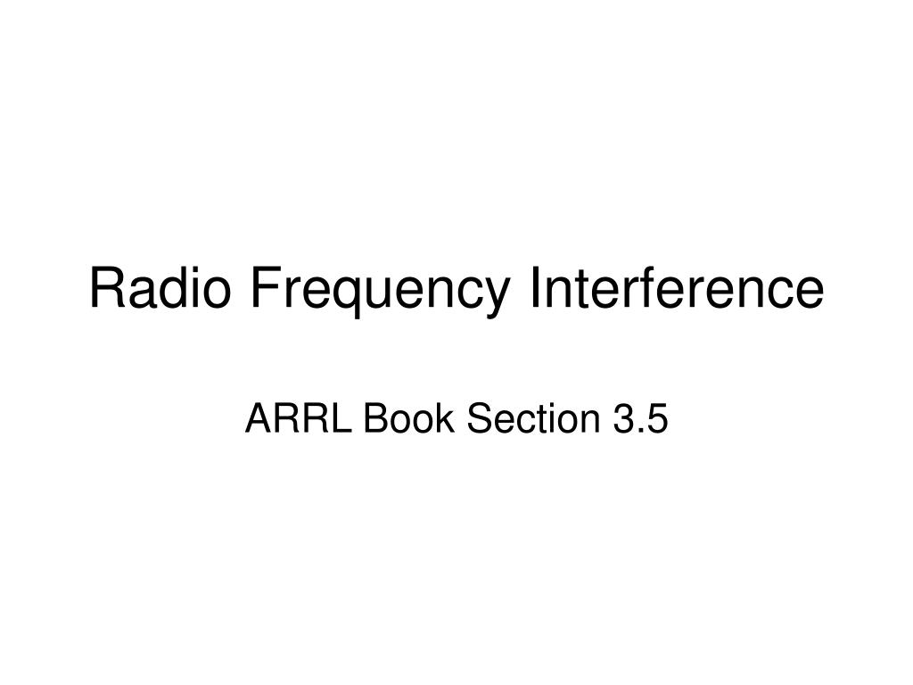 radio frequency interference l.