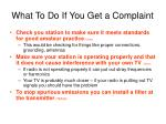 what to do if you get a complaint