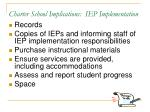 charter school implications iep implementation