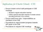 implications for charter schools cse