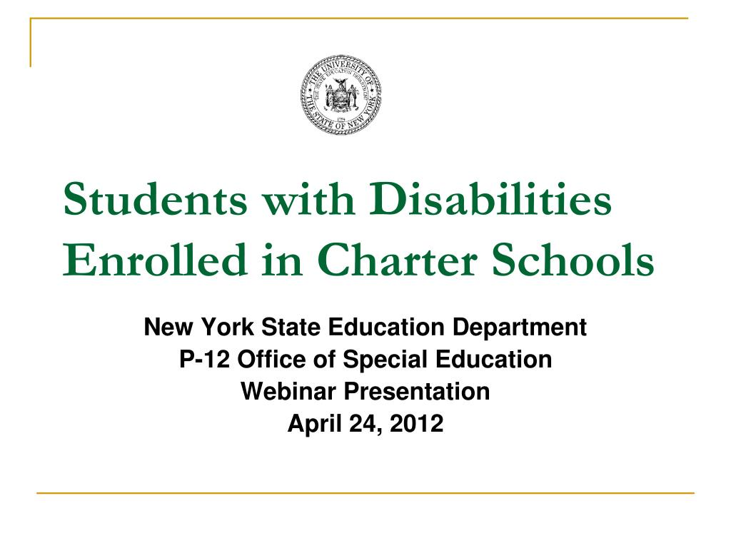 students with disabilities enrolled in charter schools l.