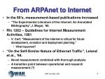 from arpanet to internet