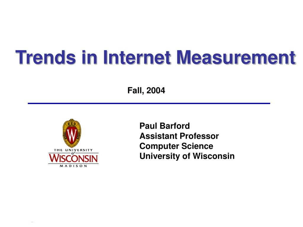 trends in internet measurement l.