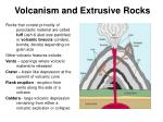 volcanism and extrusive rocks32