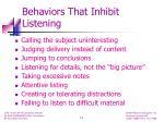 behaviors that inhibit listening