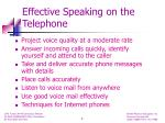 effective speaking on the telephone