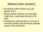 alkaline buffer solutions