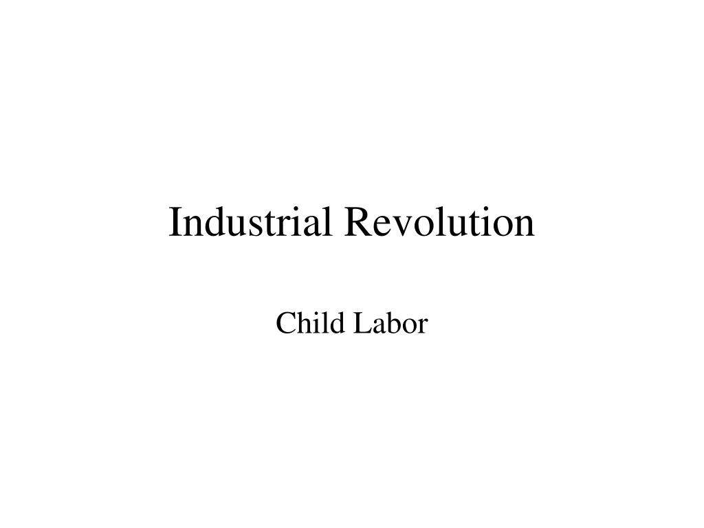 industrial revolution l.