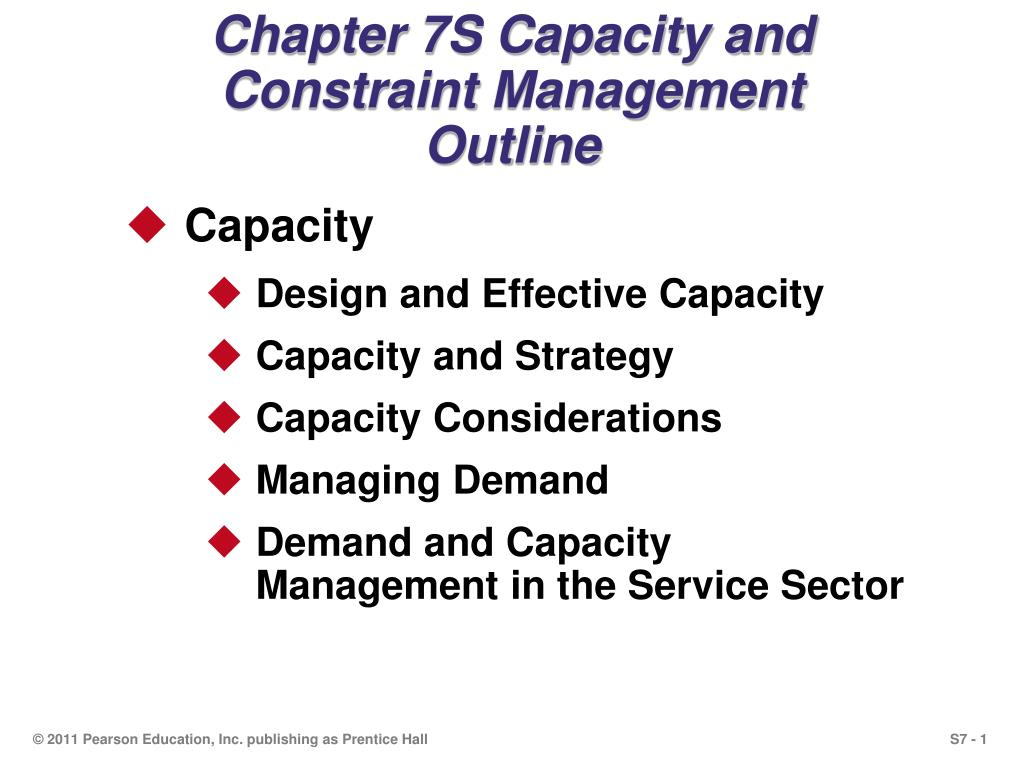 chapter 7s capacity and constraint management outline l.