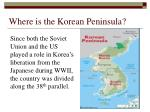 where is the korean peninsula