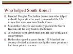 who helped south korea