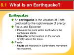8 1 what is an earthquake
