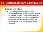 8 3 destruction from earthquakes