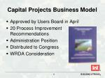 capital projects business model
